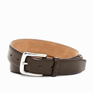 Cole Haan Men's Leather Dress Belt in Chocolate